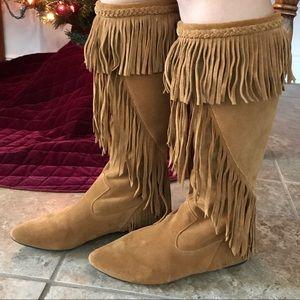 02eb568ff Sam Edelman Shoes - Sam Edelman Utah Fringe Suede Boots